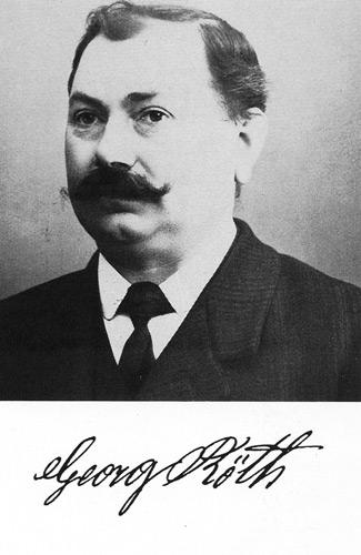 Bild des Firmengründers Georg Röth